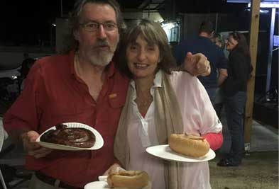 Couple with Boerewors at Crunch Braai
